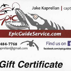 Epic Guide Service - Gift Certificate
