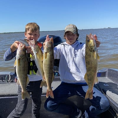 Kids and walleyes with epic guide service on green bay