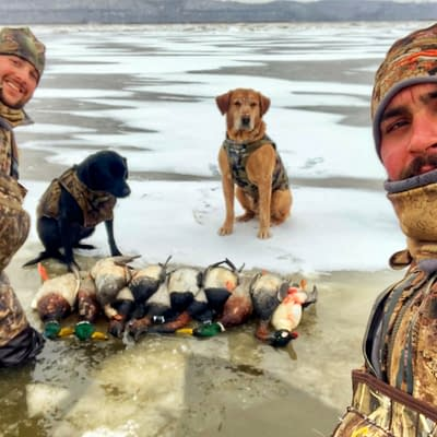 Guided hunt, ice hunt, guides, guided waterfowl hunting