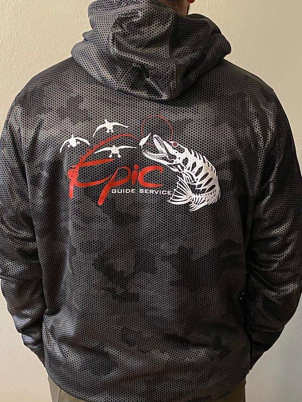 Sport-Tek Sport-Wick CamoHex Fleece Hooded Pullover - Close Up