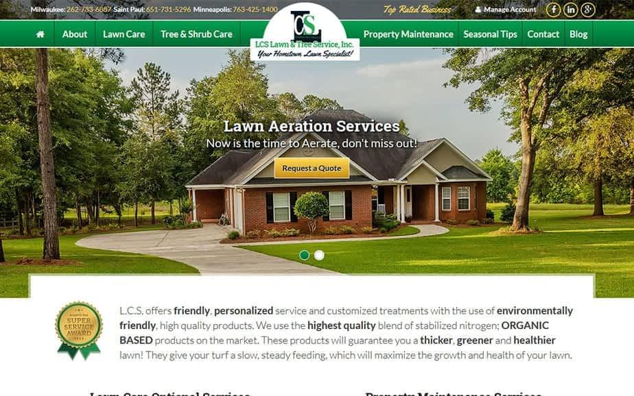 Landscape Website Redesign - After