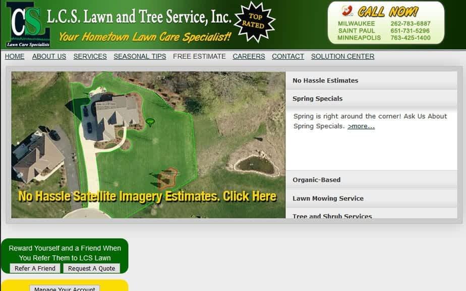 Landscape Website Redesign - Before